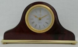 DANBURY Clock Company Quartz Desk Wood Mantle Clock  German Movement  WORKS