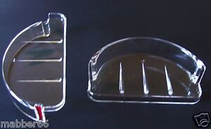 1-NEW-RECESSED-SOAP-DISH-CLEAR-PLASTIC-TRAY-REPLACEMENT-Wall-Recess-Mount