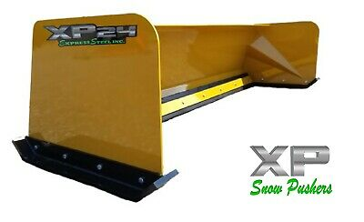 7 Xp24 Cat Yellow Snow Pusher - Skid Steer Loader - Local Pick Up