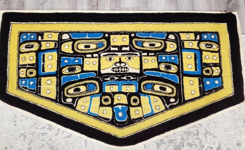 "Vintage Haida Weaving Chilkat Tlingit Style Wall Decor Hanging - 62""x34"""