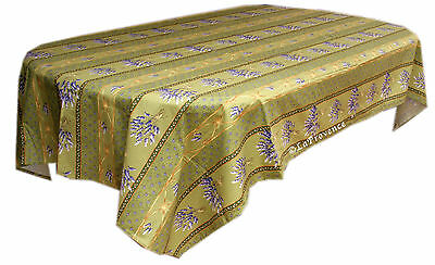 "Le Cluny 60"" x 120"" Rectangular COATED Provence Tablecloth - Lavender Na"