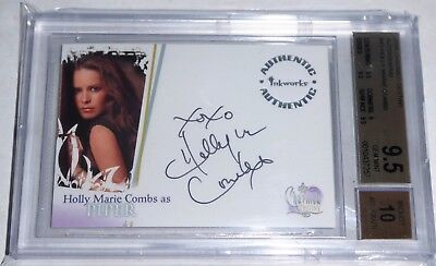 Charmed Autograph HOLLY MARIE COMBS Auto PIPER BGS 9.5 GEM MINT Card 2006 🔥