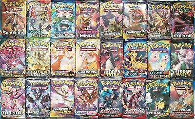 Pokemon TCG 3 Booster Packs Lot - 10 Cards in Each Pack (from different sets)