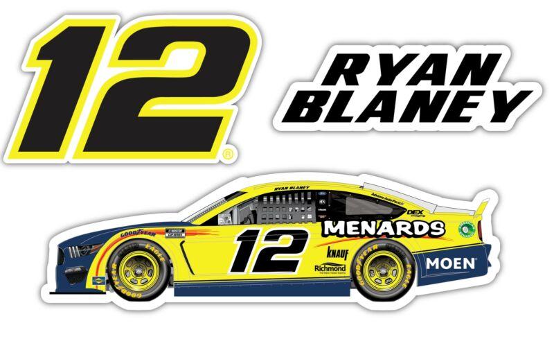 Ryan Blaney NASCAR #12 3 Pack Laser Cut Decal