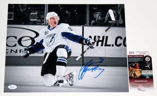 STEVEN STAMKOS SIGNED 11x14 PHOTO TAMPA BAY LIGHTNING NHL AUTOGRAPHED +JSA COA