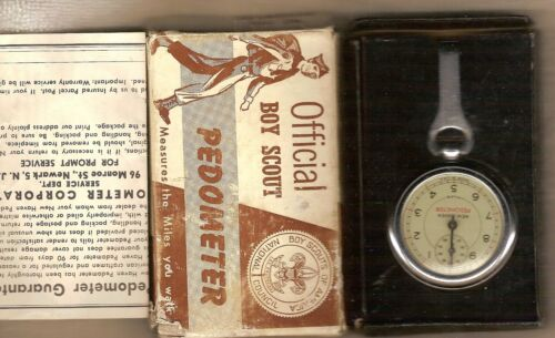 Official Boy Scout Pedometer in Box Vintage but NEVER used Includes Instructions
