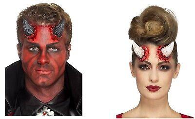 Men's Women's Latex Realistic Devil Horns Prosthetics Halloween Fancy Dress Fun - Realistic Devil Horns