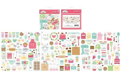 Crafts Doodlebug Odds Ends Made with Love Baking Food Faces Mixer Canisters Milk