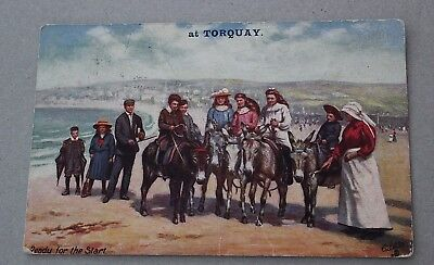 Torquay postcards: Tuck's Post Card 1911: Ready For The Start 9466