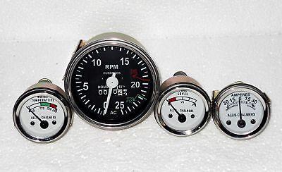 Allis Chalmers 170 175 180 185 90 200 210 220 Tachometer Temp Fuel Amp Gauge