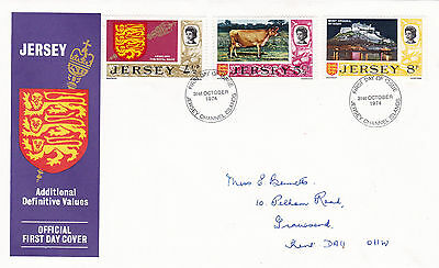 Jersey 1974 New Definitive Values FDC VGC