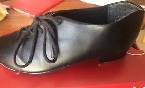 Girls Capezio Black Tap Shoes. Size 1