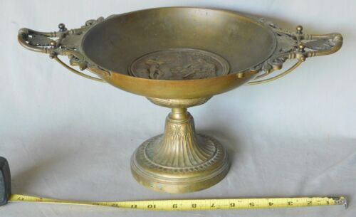 Tazza Emile Picault sculpture compote tray Moses Pharaoh c. 1870 bronze brass