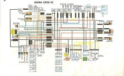 Schaltplan Honda 750 four von 1971