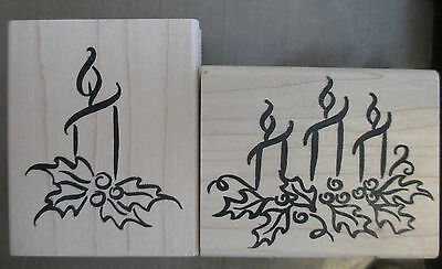 DENAMI DESIGN - 2 Candle Stamps - Used but VERY CLEAN (see pictures)