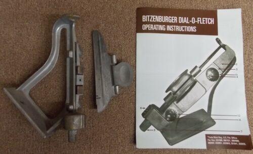Bitzenburger Dial-O-Fletch Fletching Jig w/Left Clamp & Instruction Sheet Used