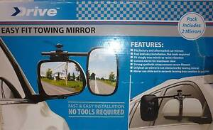 Pair of DRIVE Towing Mirrors in LIKE NEW Condition. Prospect Launceston Area Preview