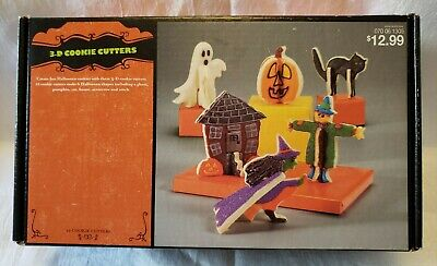 TARGET HALLOWEEN 3D STAND UP COOKIE CUTTERS 12 PCS NEW IN BOX SIX SHAPES 52N15