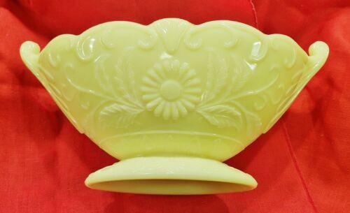 1930s McKee Glass Co Seville Yellow Autumn #23 Art Deco Console Comport Bowl