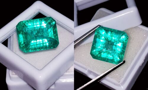Natural Emeralds Loose Gemstones Certified 8 to 10 Cts 2 Pieces RK51