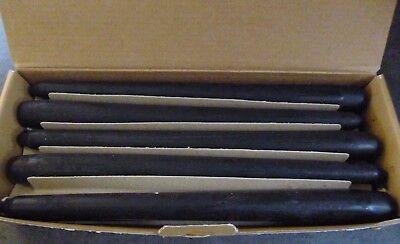 10 NATUZZI BLACK CANDLES..24cm..BOXED... comprar usado  Enviando para Brazil