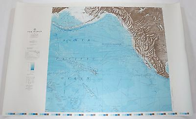 The World North Pacific Ocean 1961 Vintage Original US Navy Hydrographic Map