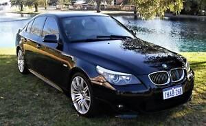2009 BMW 5 series E60 MY08 525i Steptronic Blue/Black 6 speed spor
