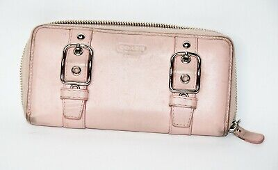 COACH Pink Leather Clutch Wallet