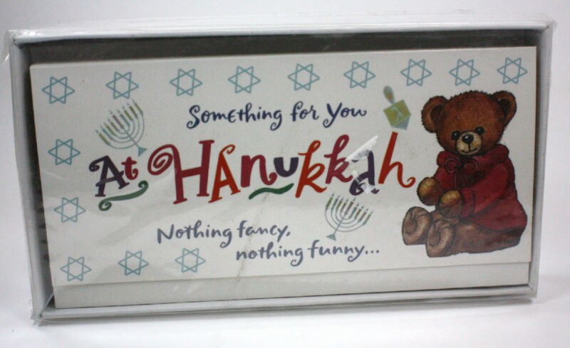 Box of 8 HANUKKAH MONEY HOLDER CARDS WITH ENVELOPES Cash Holiday Gift Giving