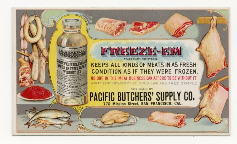 Antique FREEZE-EM Pacific Butcher