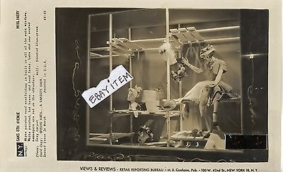 1950 Fashion PHOTOGRAPH Advertising Window Display Fixture SAKS 5th AVENUE photo