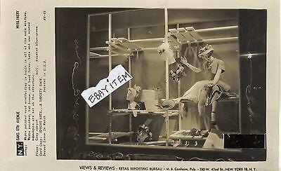 1950 Fashion PHOTOGRAPH Advertising Window Display Fixture SAKS 5th AVENUE photo