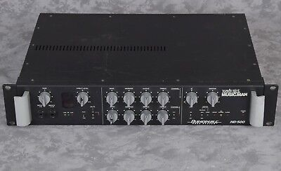 Music Man Guitar Amps - Ernie Ball Musicman Audiophile HD-500 Bass Guitar Amplifier Amp Head Tube Preamp