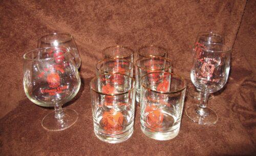 Assortment of 10 Glasses Tau Kappa Epsilon TKE Fraternity ETSU Vintage 79 to 81