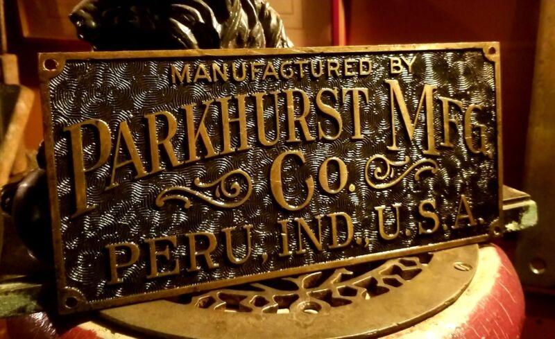 Antique Parkhurst Elevator Art Nouveau Bronze Plaque Early Otis C1890