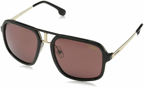 CARRERA 1004/S 02M2 MEN'S SUNGLASSES BLACK GOLD BURGUNDY POL