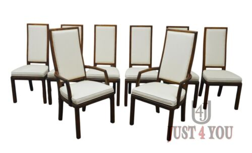 Henredon Set of 8 Oak Dining Chairs