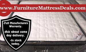 """NEW Full Double 54""""x74"""", 10"""" Thick Soft Euro-top Mattress $350"""