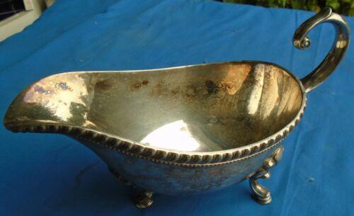 Gravy Sauce Boat Bathtub Design 3 Footed Silverplate