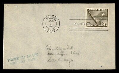 DR WHO 1941 CHILE FDC AIRMAIL  g23994