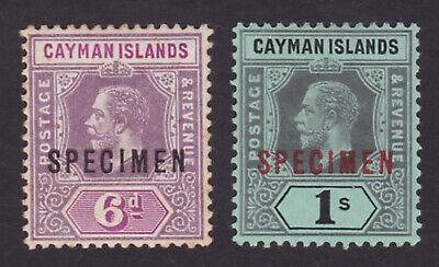 Cayman Islands. 1912-20. SG 47s & 48s, 6d & 1/- specimens. Fine mounted mint.