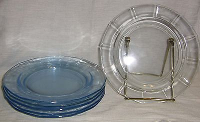 Fostoria Fairfax Blue Set of 6 Salad Plates - SHIPPING INCLUDED