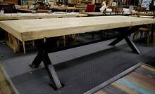New Recycled Timber Metal French Industrial 3m Dining Tables Melbourne CBD Melbourne City Preview