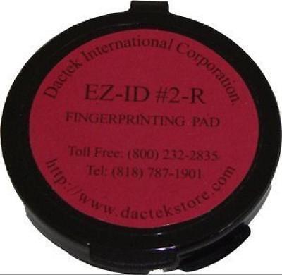 Fingerprint Pad 2 Diameter Red New Free Shipping