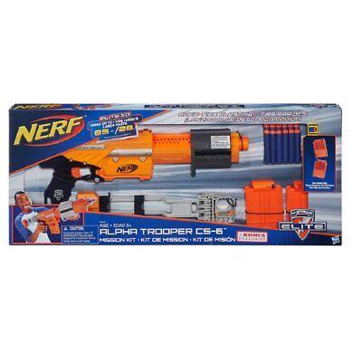 Nerf N-Strike Elite  Orange Alpha Trooper CS-6 Mission Kit STOCK 2Clips New