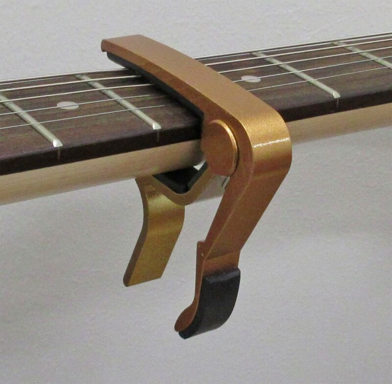 CHAMPAGNE Acoustic Electric Guitar Quick Change Trigger Capo Clamp A105-GD