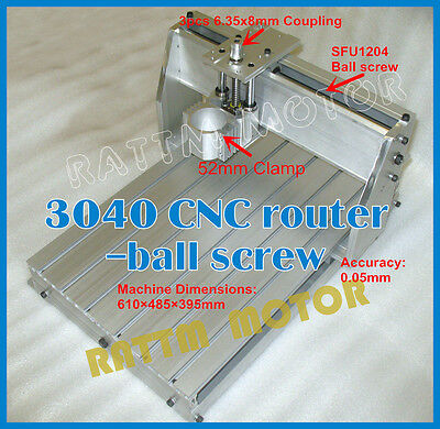 Desktop 3040 Cnc Router Milling Engraving Machine Ballscrew Frame Kit52mm Clamp