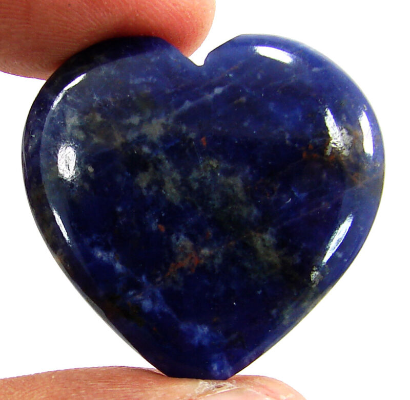 41.75 Ct Natural Blue Sodalite Loose Gemstone Heart Cabochon Wire Wrap - 44963