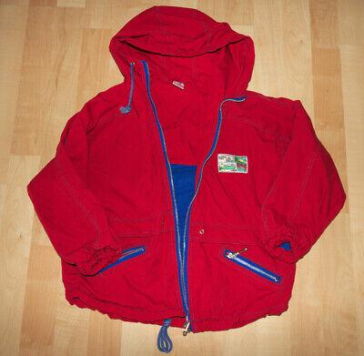 Rote Jacke Gr. 128 Junge Maritim Breit geschnitten kids Fashion Übergang Herbst