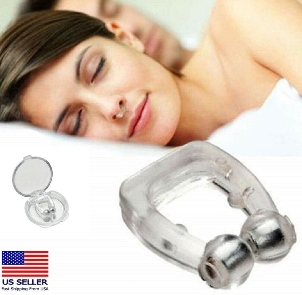 4 Pack Silicone Clipple Magnetic Anti Snore Stop Snoring Nose Clips Sleeping Aid Health & Beauty